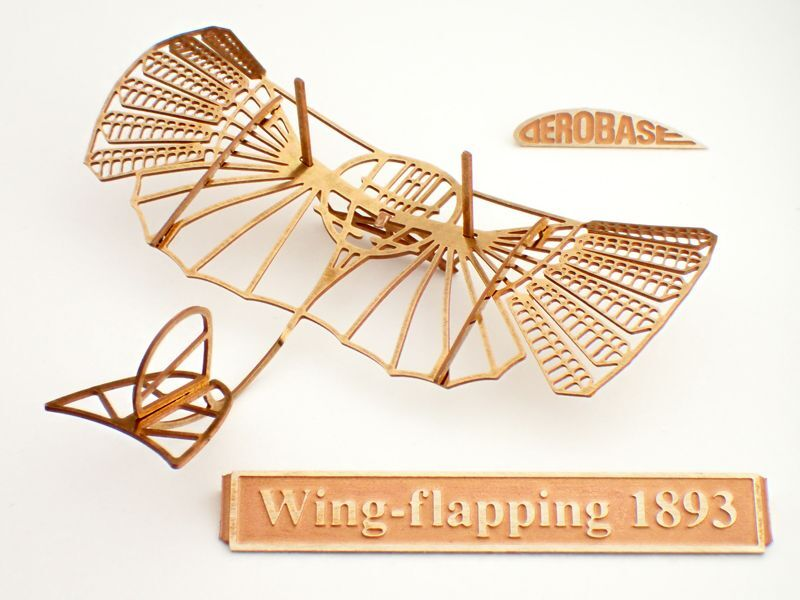画像1: リリエンタールの羽ばたきグライダー1893年式 (1)