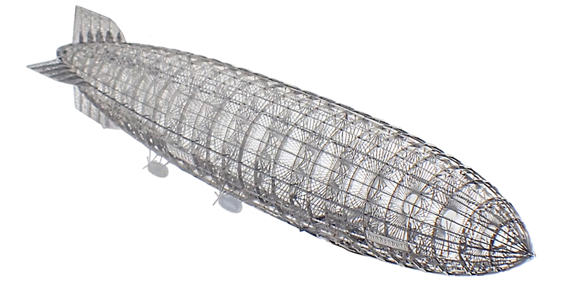 ヒンデンブルクLZ129号(全長:25cm) 金属製組立キット / エアロベース