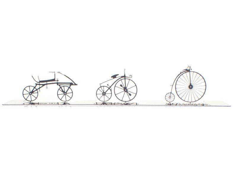 画像1: HOゲージ アンティーク自転車セット(3台入) (1)