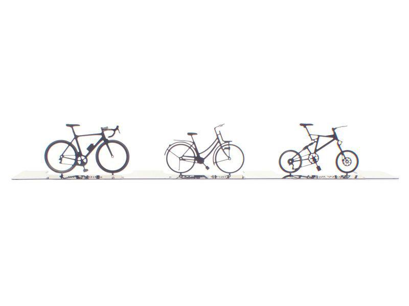 画像1: HOゲージ 現代の自転車セット(3台入) (1)